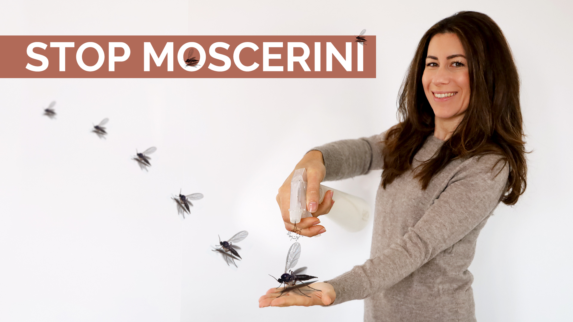 come eliminare i moscerini dalle piante