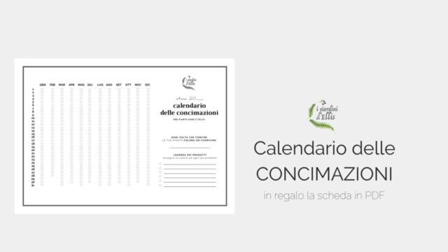 Calendario della Concimazioni_I Giardini di Ellis